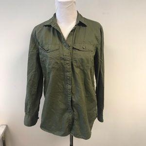 JCrew Army Green Cargo Shirt